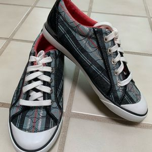 ✨NWOT✨ Coach Poppy Red/White/Blue Plaid Sneakers